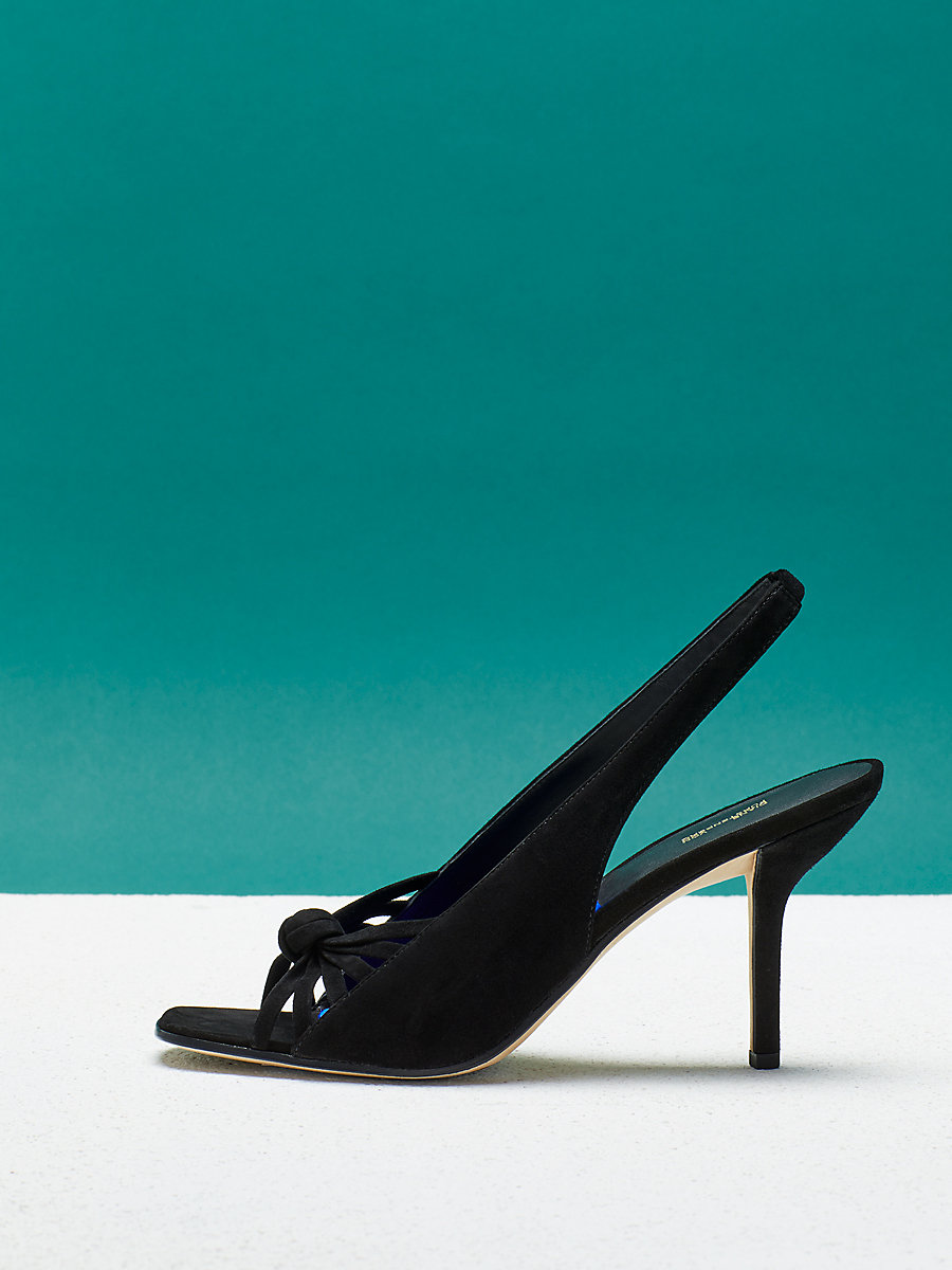 Farah Heel in Black Kid Suede by DVF