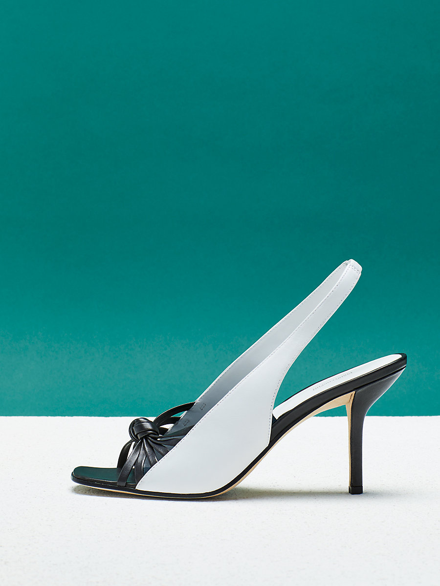Farah Heel in Black/ White by DVF