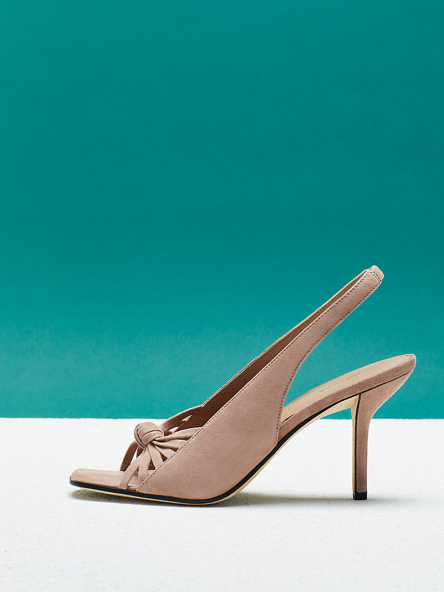 Farah Heel in Powder Kid Suede by DVF