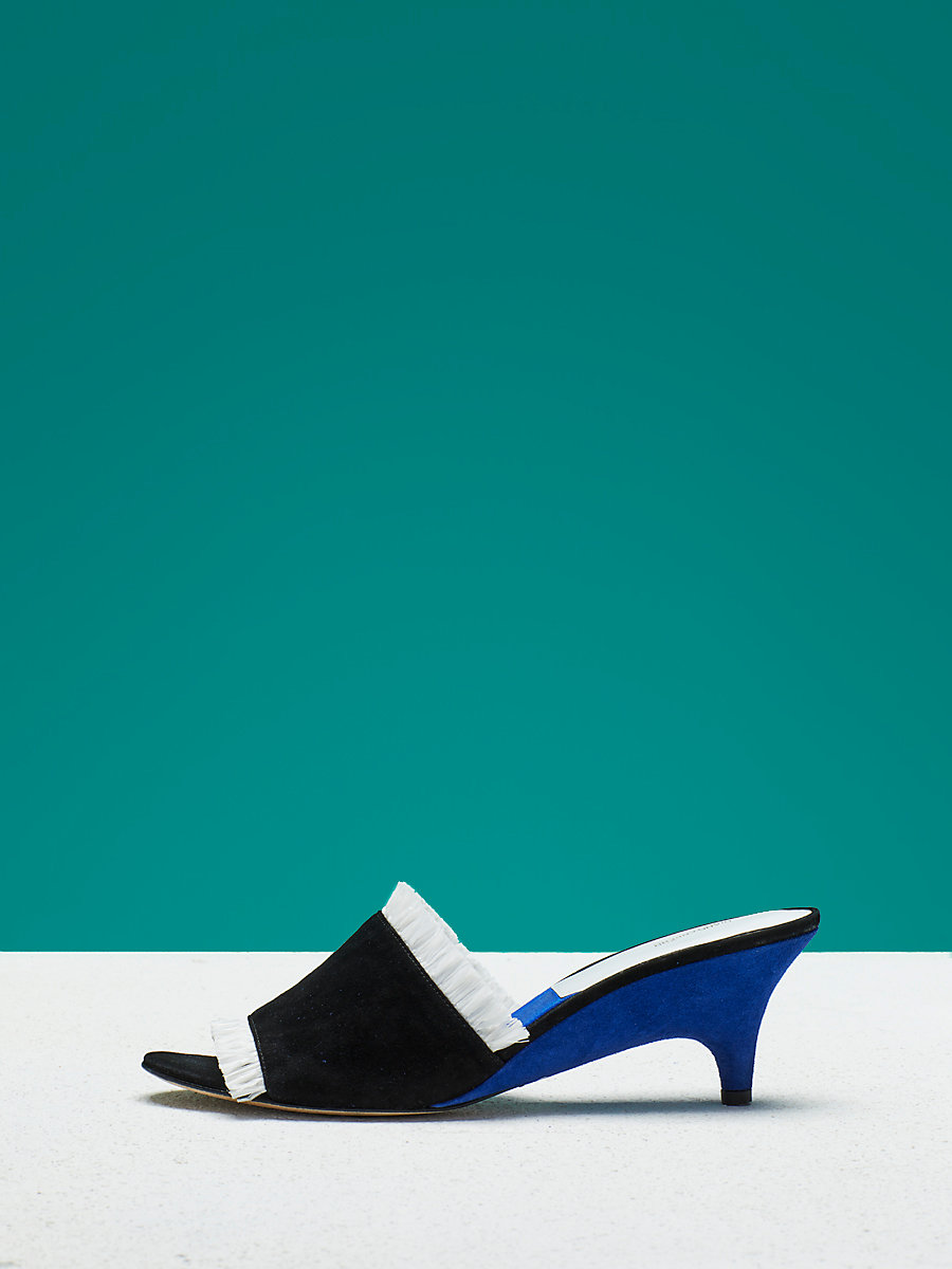 Gimli Slide in Black/ White by DVF