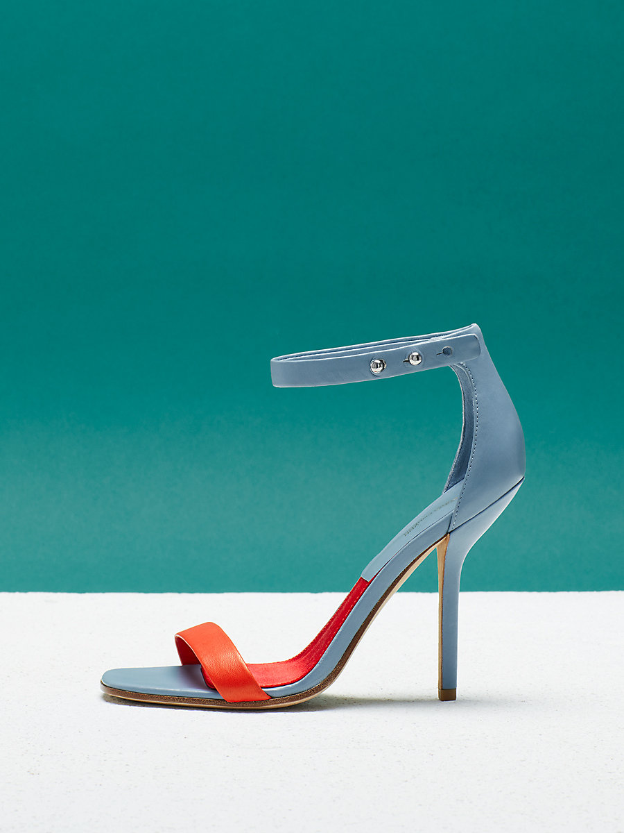 Ferrara Heel in Slate Blue by DVF