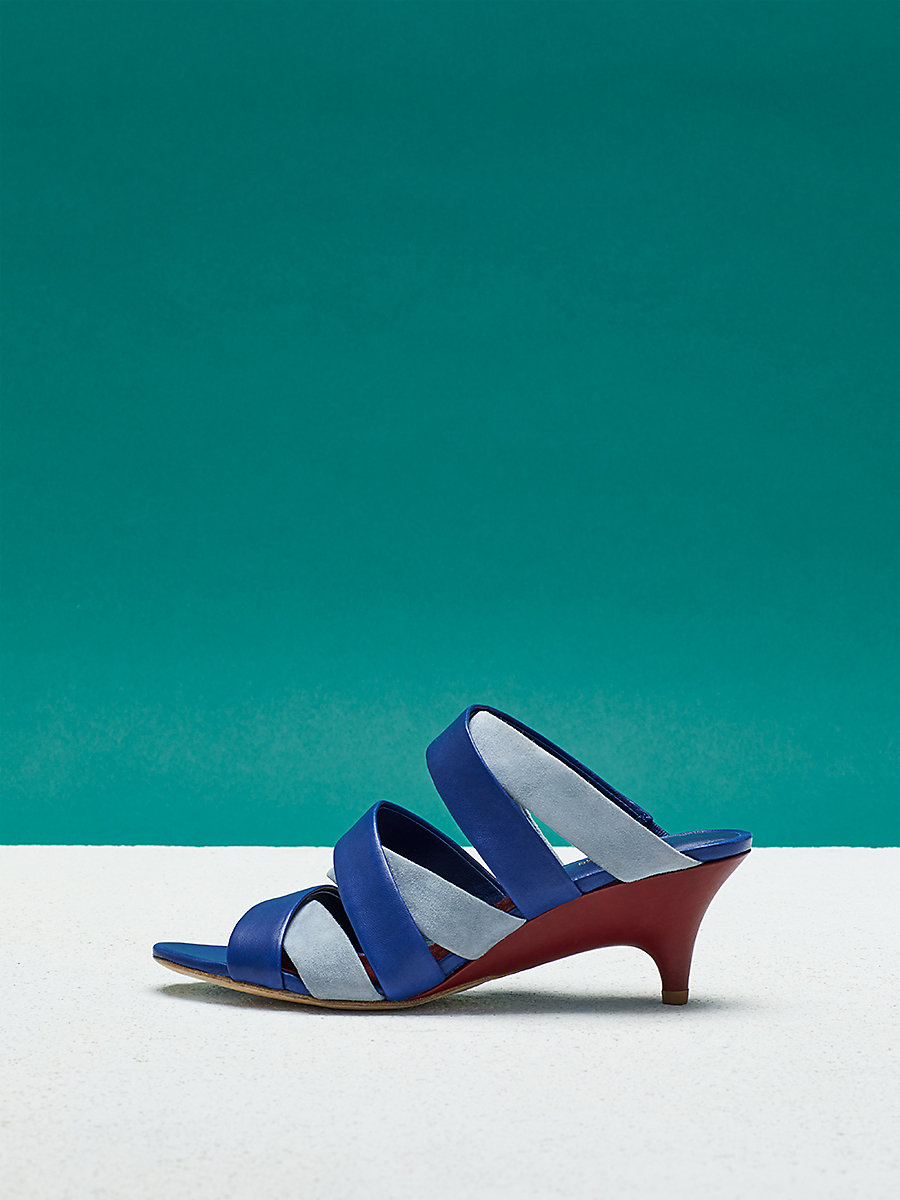 Ghanzi Sandal in Klein Blue by DVF