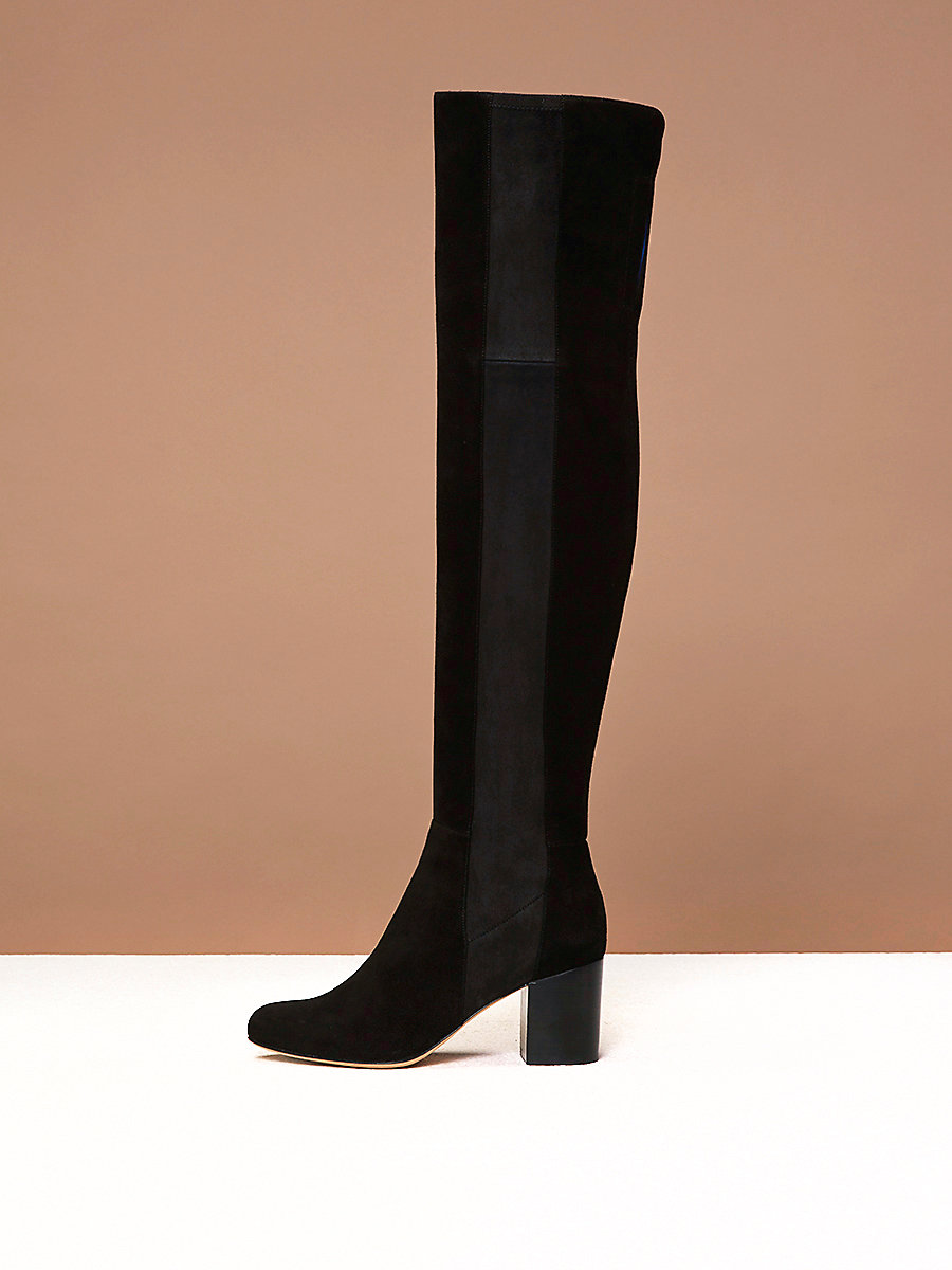 Luzzi Over-The-Knee Boots in Black by DVF