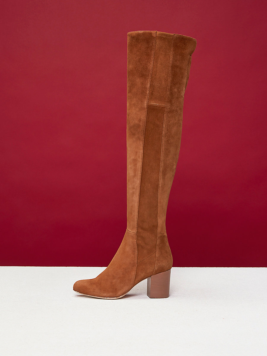 Luzzi Over-The-Knee Boots in Clove by DVF