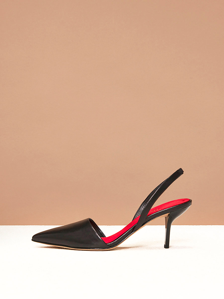 Mortelle Slingback Heels in Black by DVF