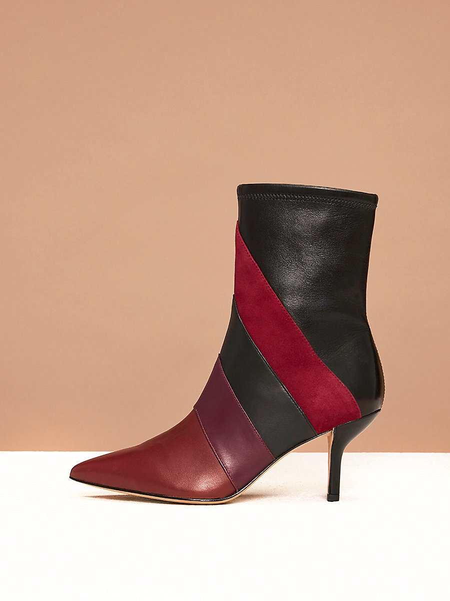 Miles Boots in Bordeaux Combo by DVF