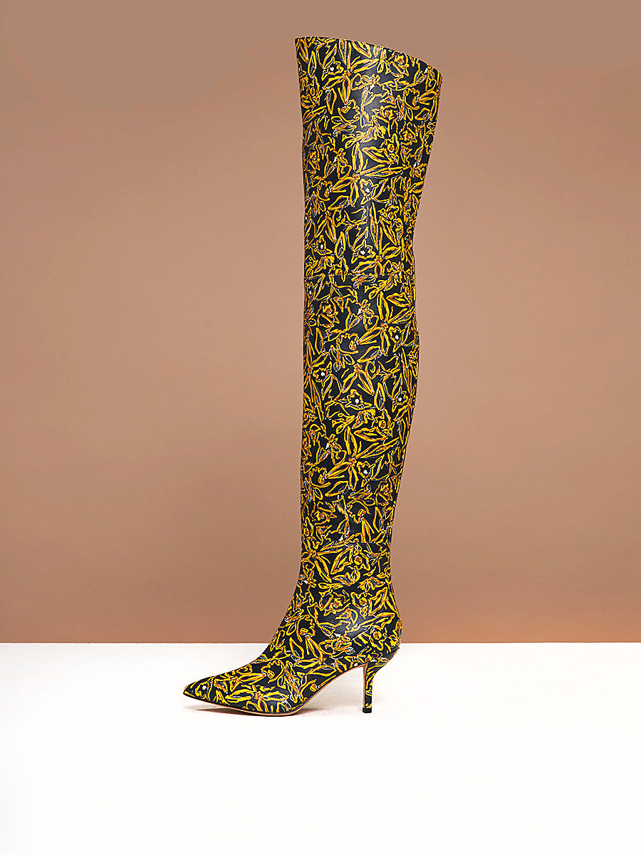 Macello Boots in Elsden Print by DVF