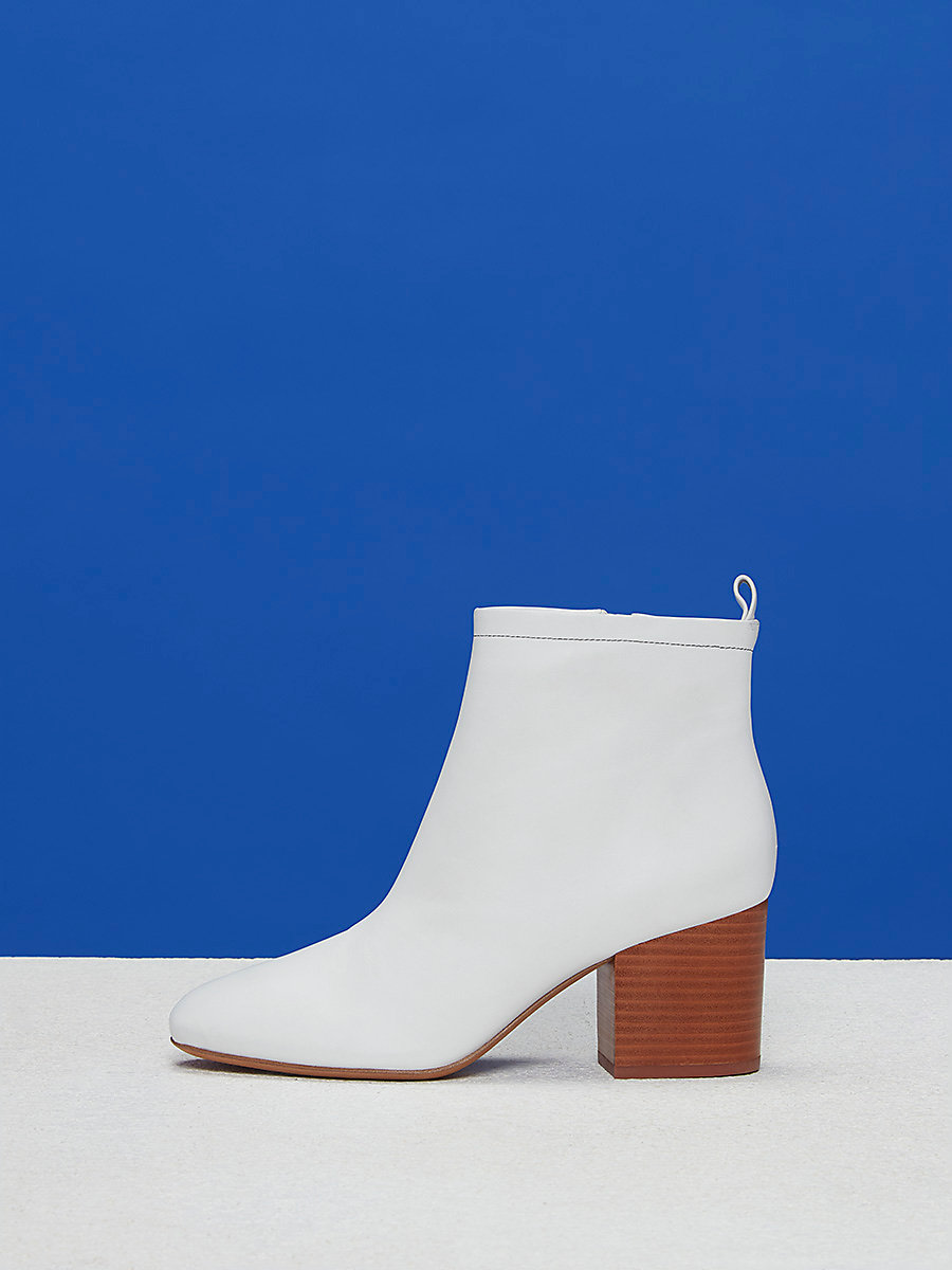 Devon Booties in White by DVF