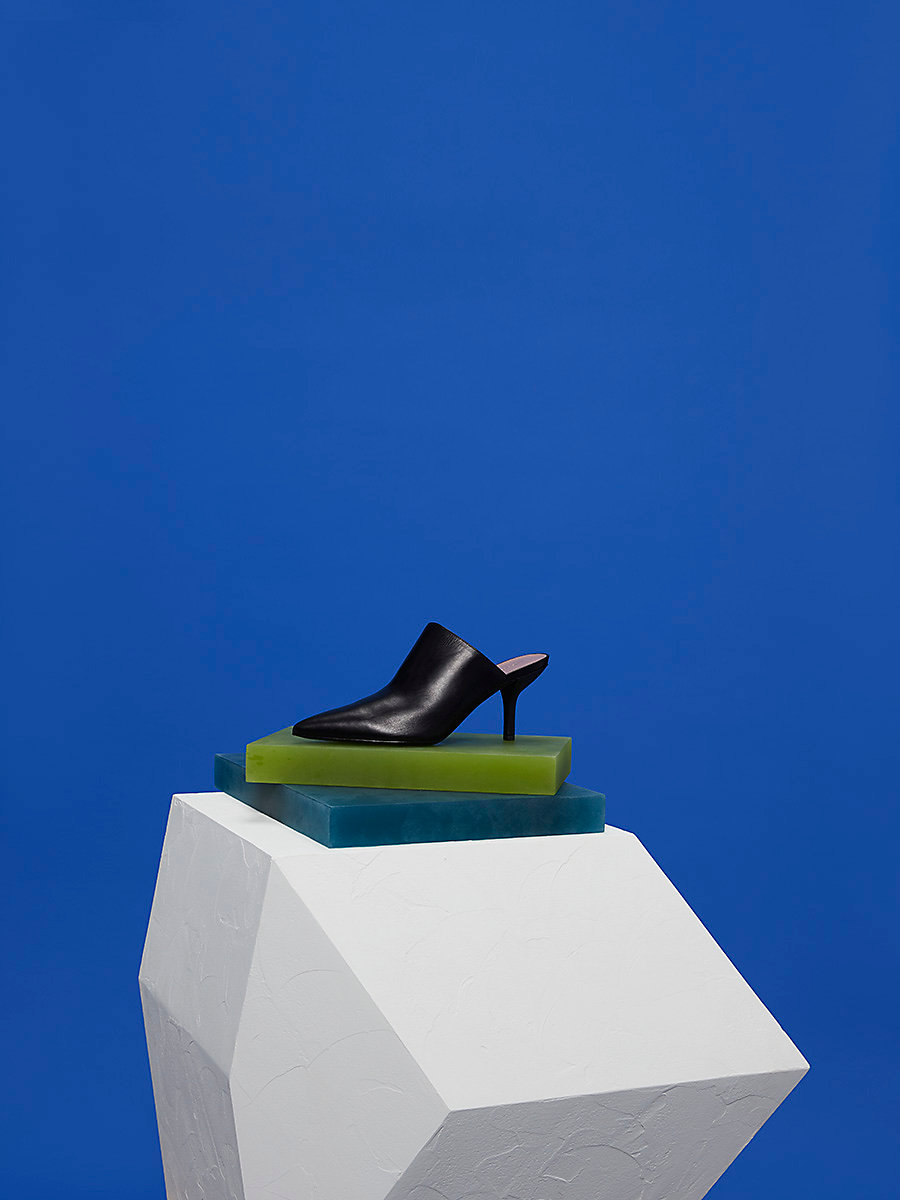 Mikaila Mules in Black by DVF