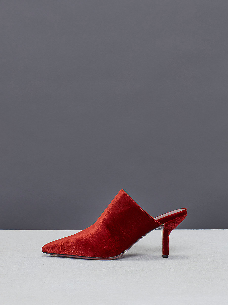 Mikaila Mules in Deep Fig by DVF