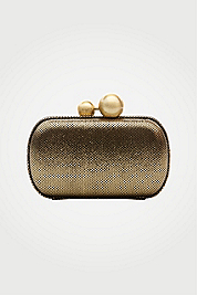 Sphere Metallic Leather Clutch