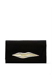Carolina Lips Satin Clutch