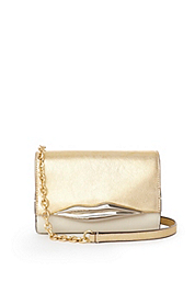 Lips Mini Metallic Leather Bag