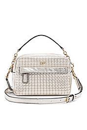 Milo Mini Quilted Metallic Leather Bag