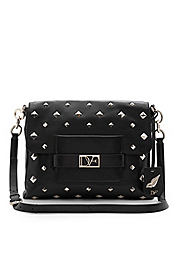 Metro Connect Studded Leather Bag