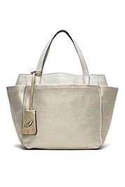 On The Go Metallic Canvas Tote