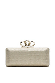Sutra Metallic Canvas Clutch