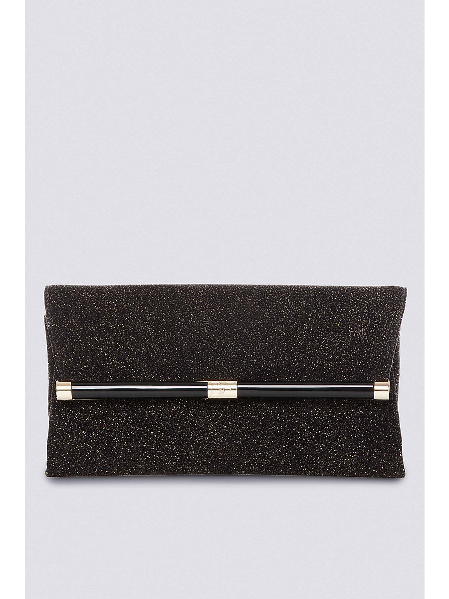 440 Envelope Diamond Dust Clutch in Black by DVF