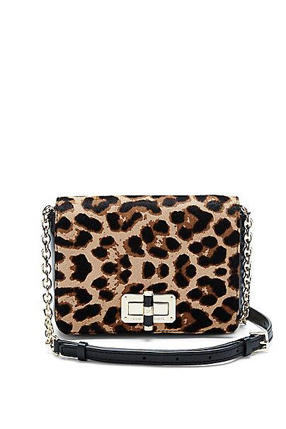440 Gallery Bellini Leopard Crossbody Bag in Leopard/ Black by DVF