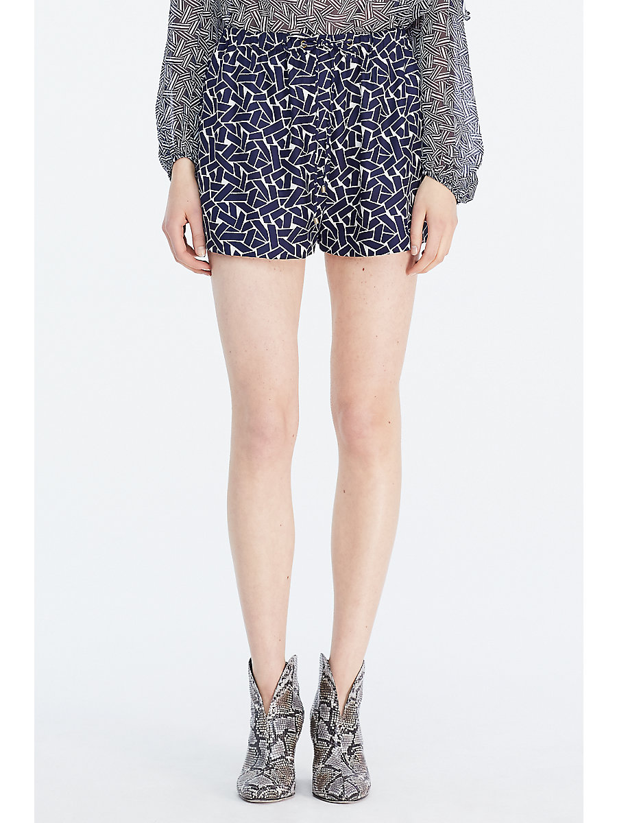 DVF Liri Silk Short in Ribbon Weave Mini by DVF