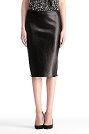 Clover Leather Skirt