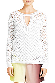Cora Lace Crochet Sweater