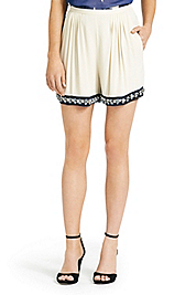 Atty Embellished Silk Short