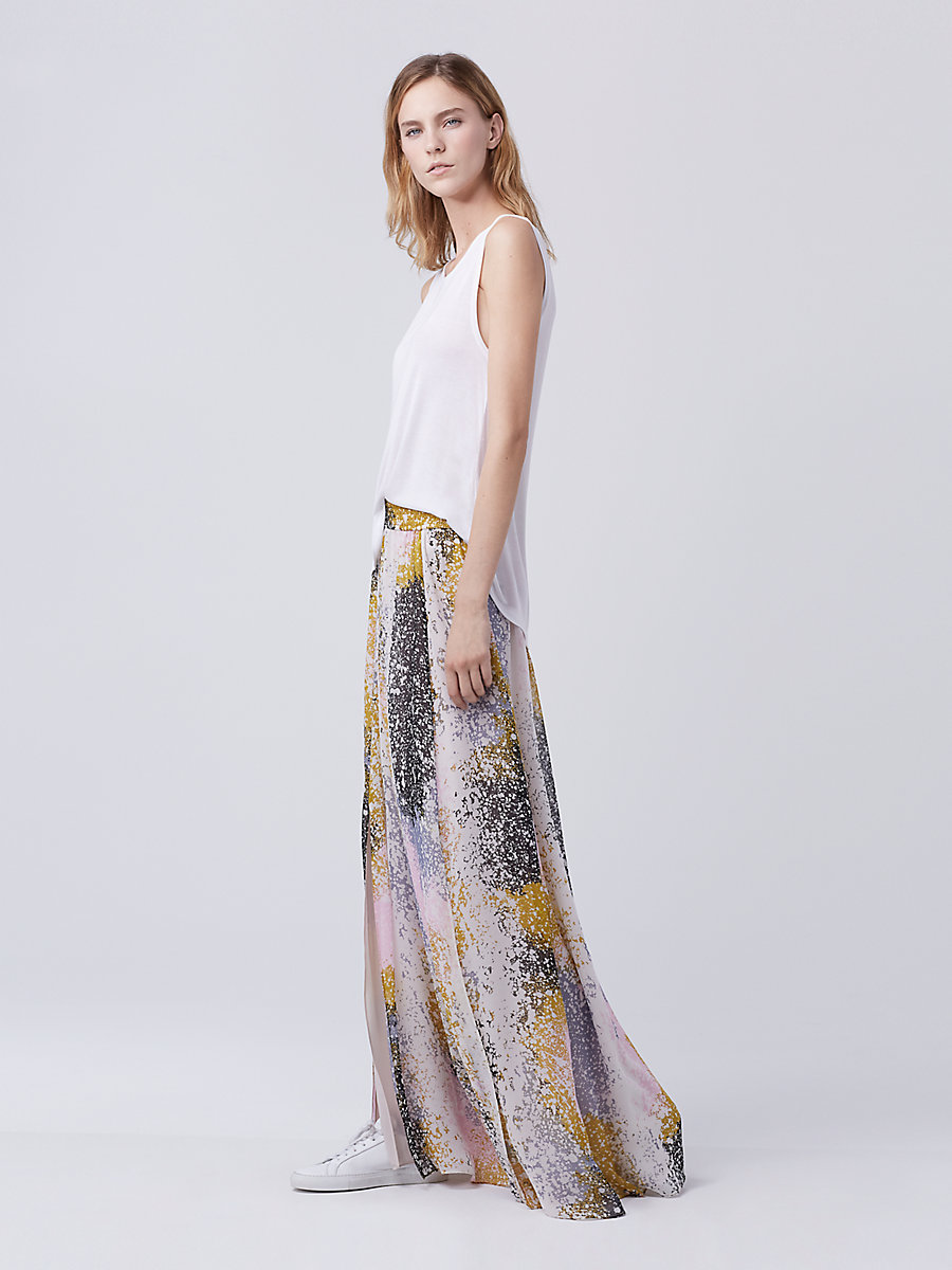 DVF Jade Maxi Skirt in Stella Fresco Rock by DVF