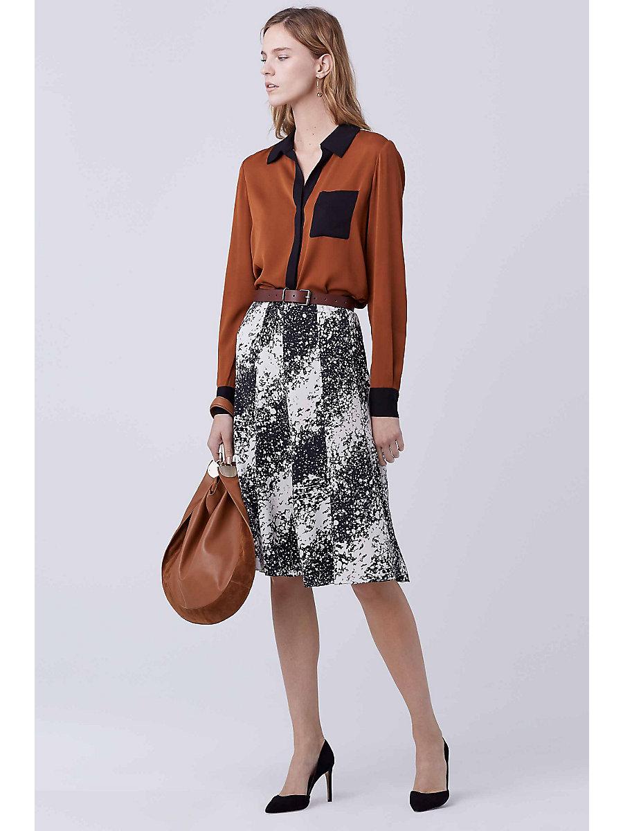 DVF Nolita A-line Skirt in Stella Bias by DVF