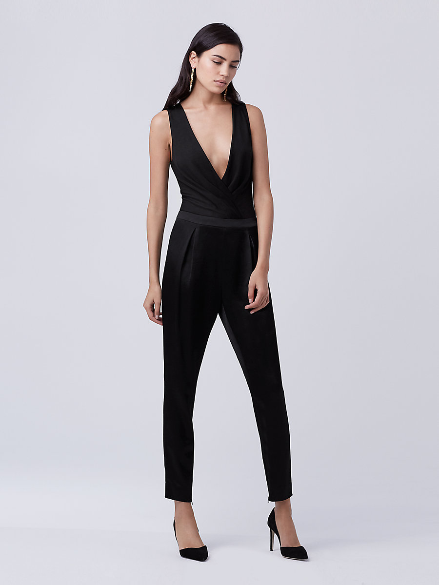 DVF Lala Bodysuit in Black by DVF