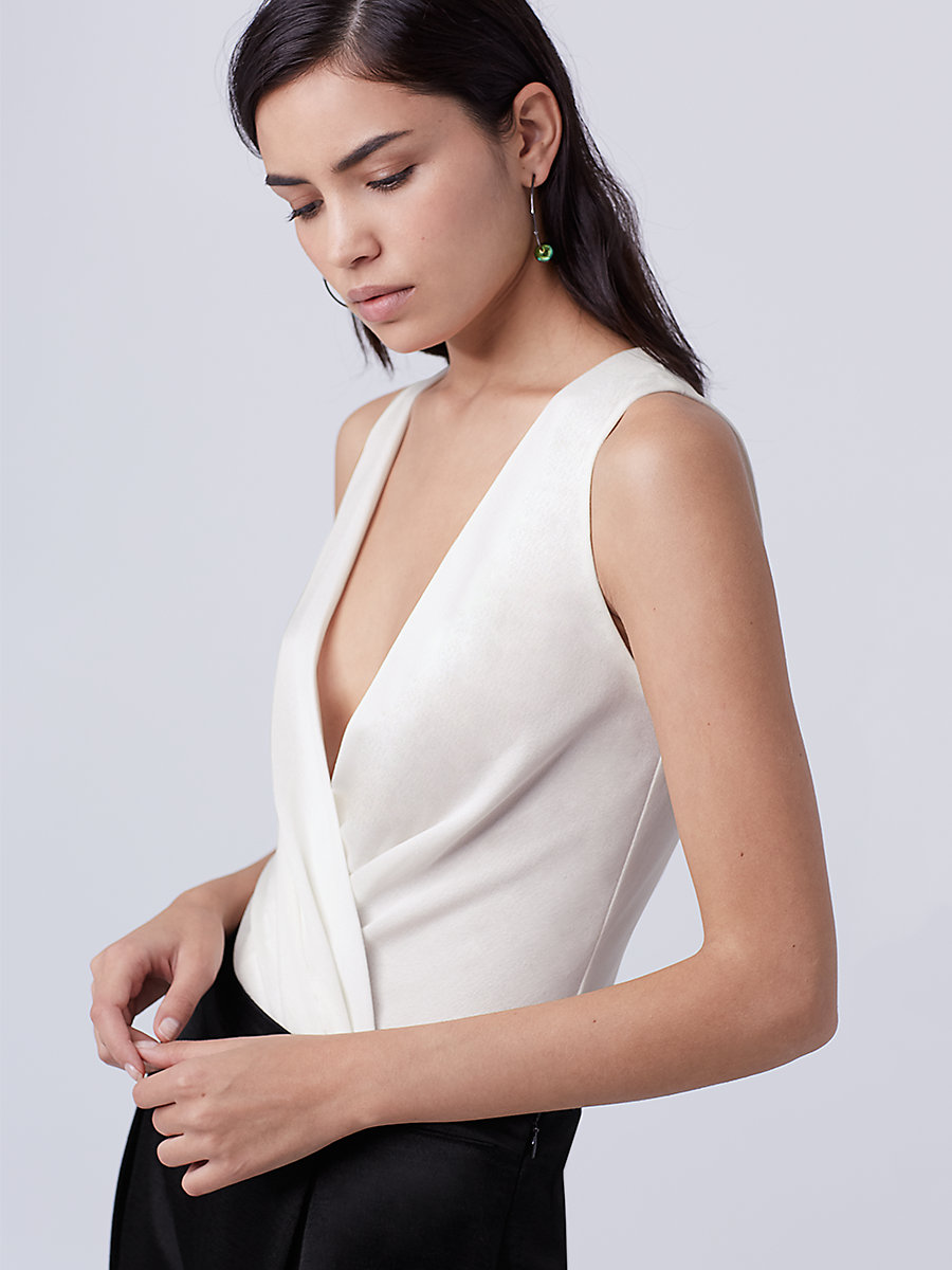 DVF Lala Bodysuit in Ivory by DVF