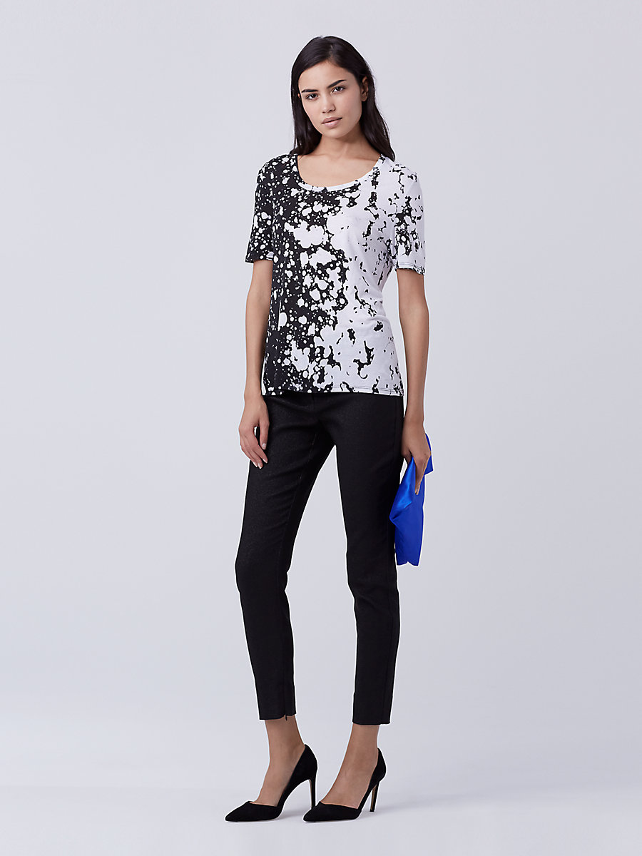 Ricki Modal T-Shirt in Stella Black by DVF