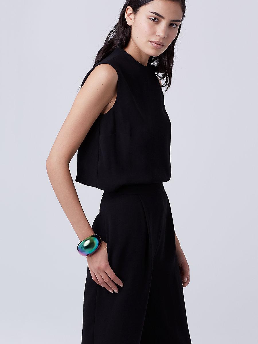 DVF Tali Jumpsuit in Black by DVF
