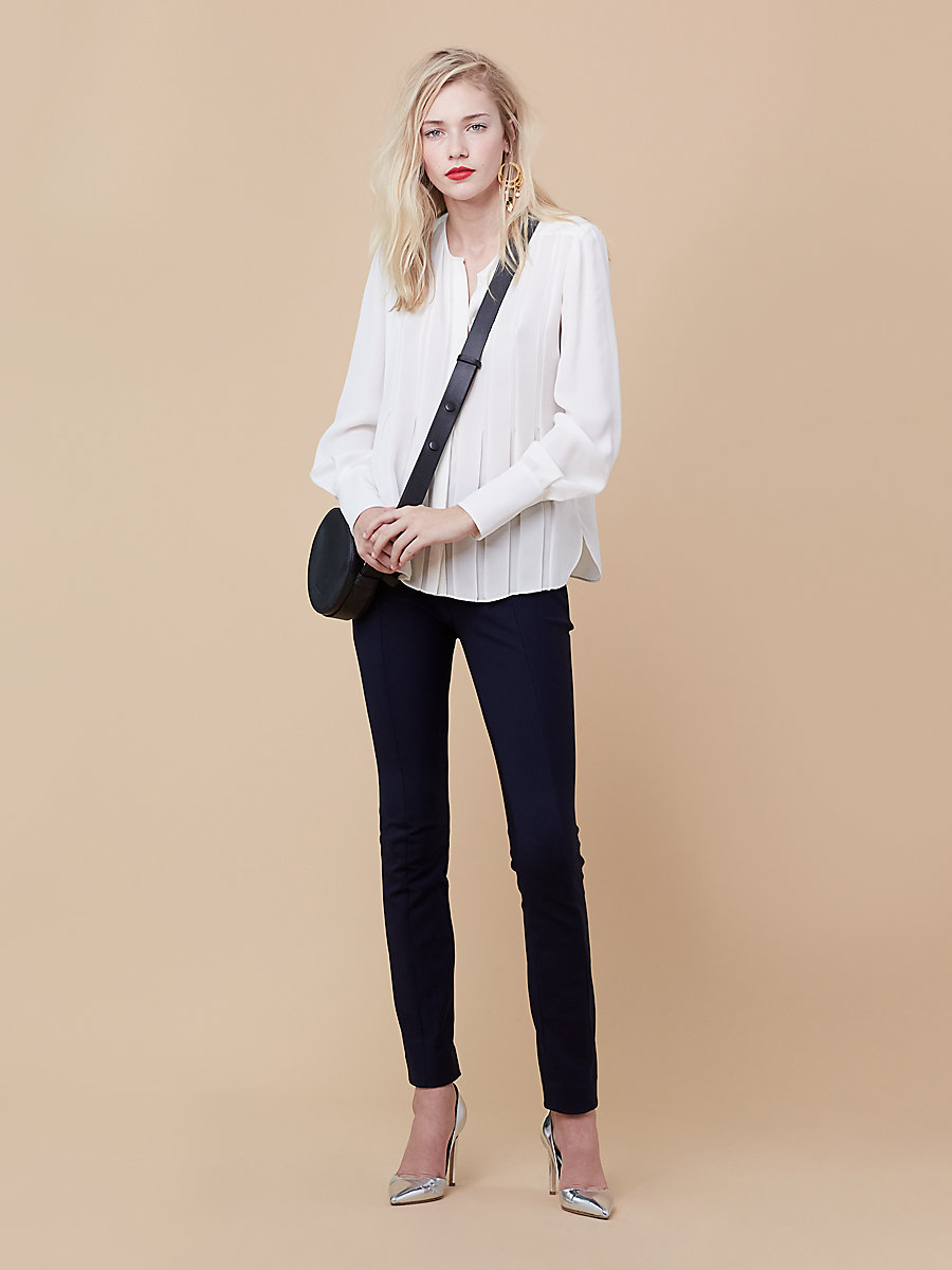 DVF Vicky Top in Ivory by DVF