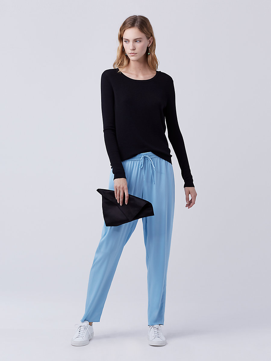 DVF Faustyn Pant in Cool Blue by DVF
