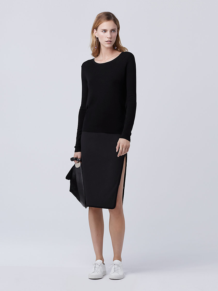 DVF Kylee Sweater in Black by DVF