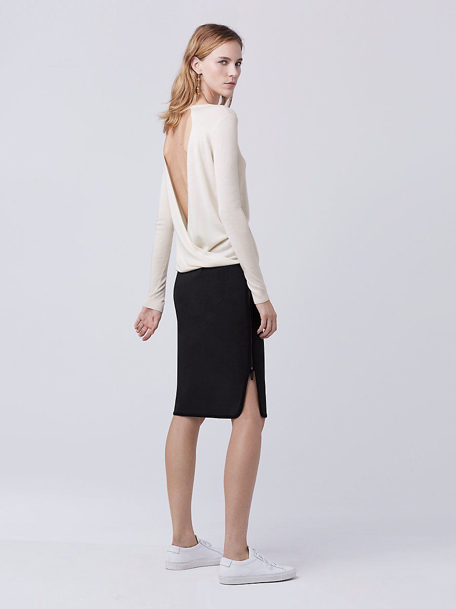 DVF Kylee Sweater in Ivory by DVF