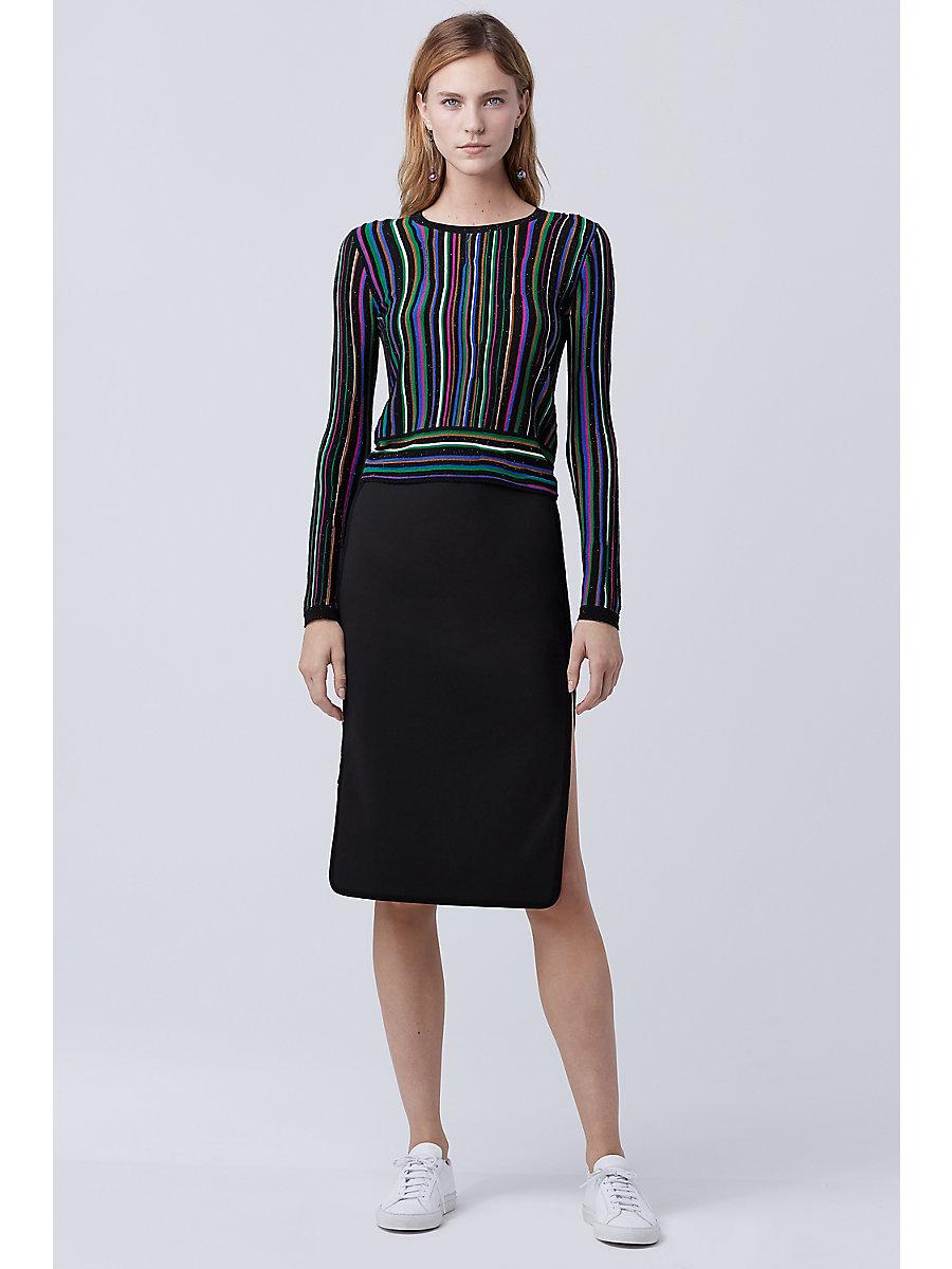 DVF Arisha Sweater in Laser Stripe by DVF