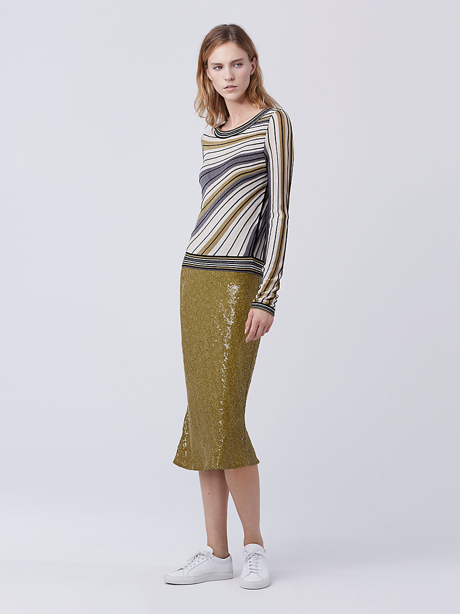 DVF Joletta Sweater in Gold Multi by DVF