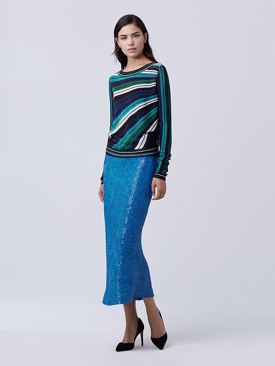 DVF Joletta Sweater in Blue Multi by DVF