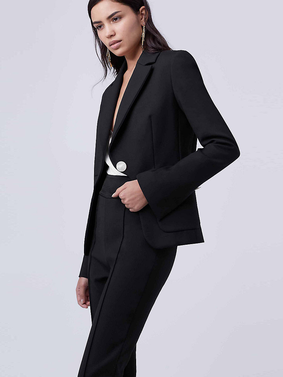 DVF Flynn Blazer in Black by DVF