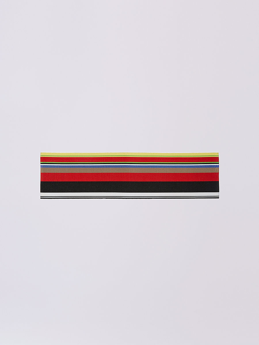 DVF Ribbon Belt in Red/black Multi by DVF
