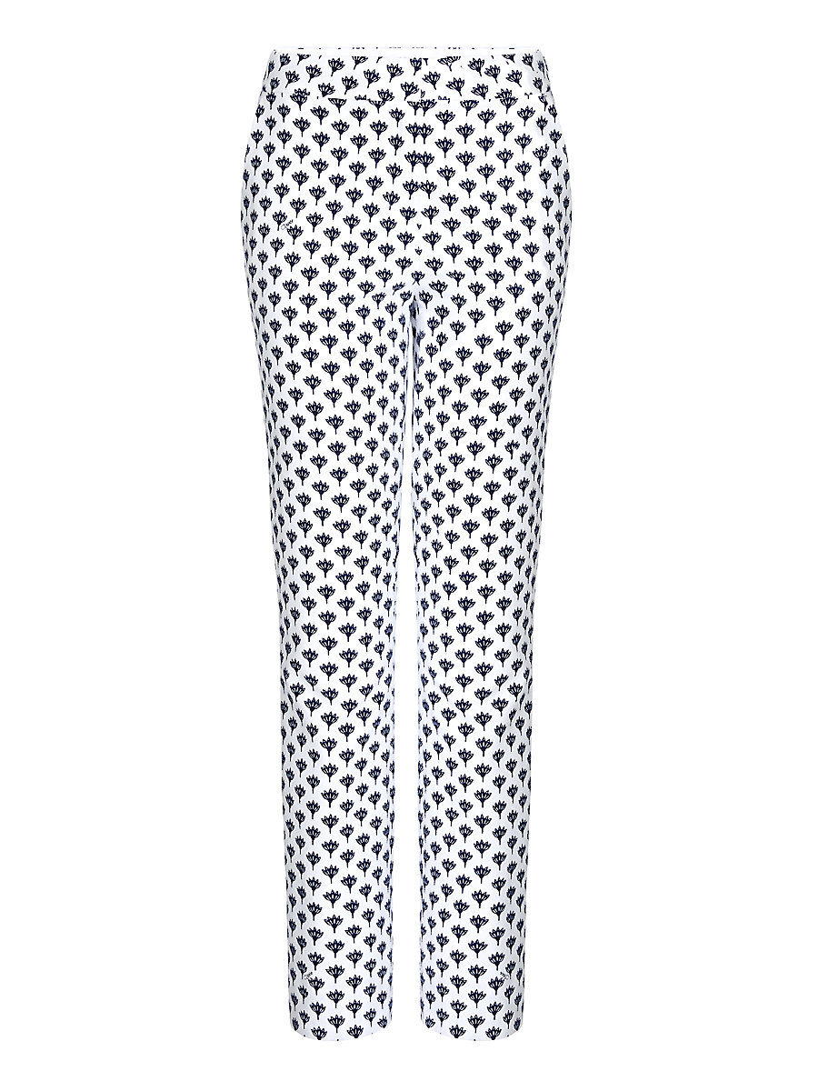 DVF Genesis Cropped Trousers in Peace Palm White by DVF