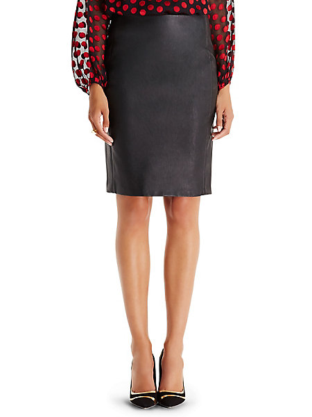 dvf cloe leather pencil skirt by dvf