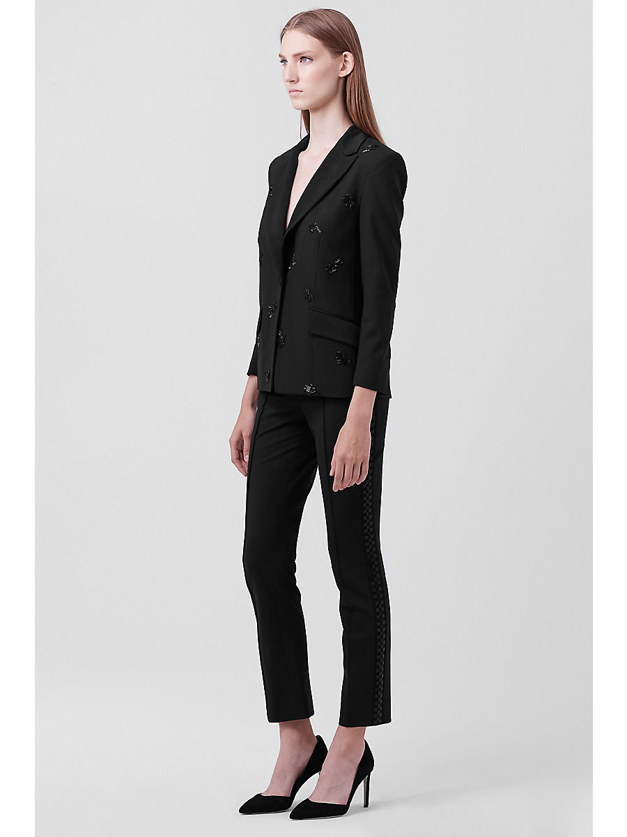 DVF Lenore Embellished Blazer in Black by DVF