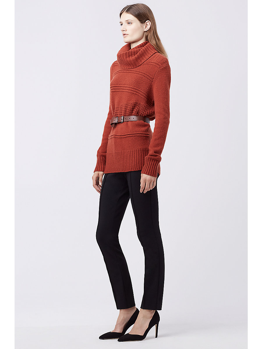 DVF TALASSA TURTLENECK SWEATER in Carnelian by DVF