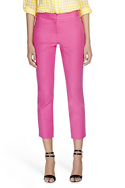 DVF Gennifer Ceramic Cropped Trousers in Hot Rose by DVF