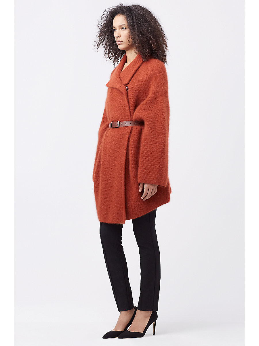 DVF AVRIL CARDIGAN SWEATER in Carnelian by DVF