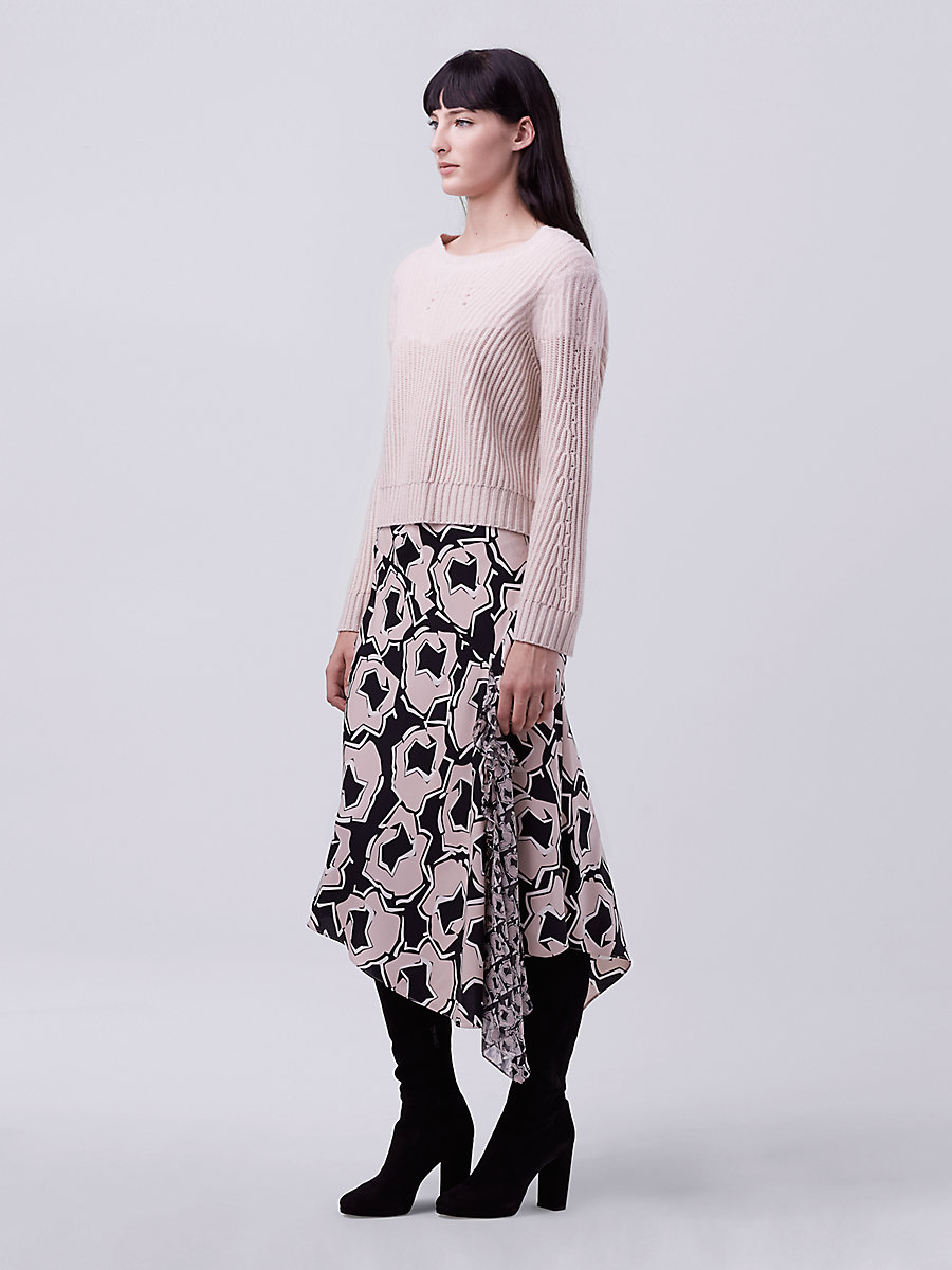 DVF Rayne Wool Sweater in Rose Opal by DVF