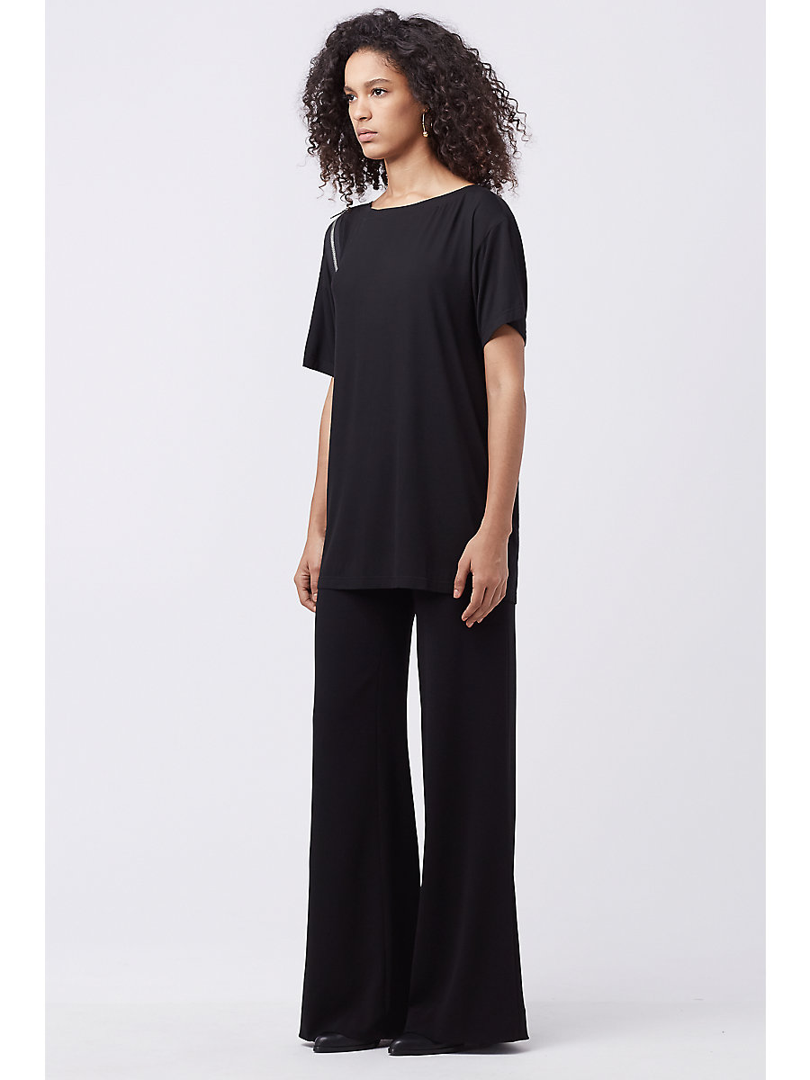 DVF SOFT COTTON JERSEY TEE in Black by DVF
